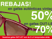 Descuentos por rebajas del 50% y 70% en vintage y outlet