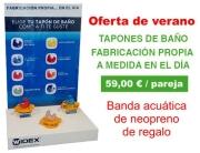 Oferta tapones de baño 59€ con regalo banda neopreno