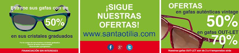 Ofertas Rebajas 2015 en Santa Otilia, Óptica en Huelva