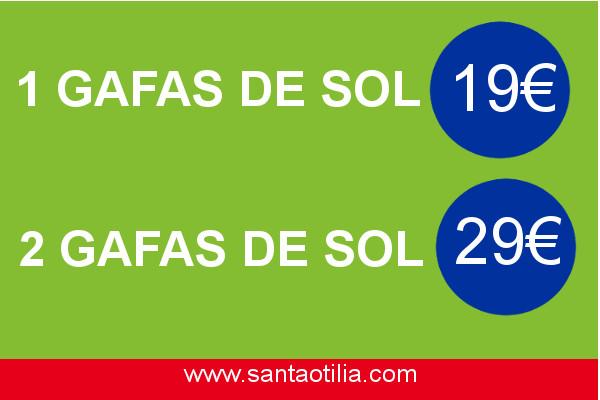 ¡Mira qué ofertas en gafas de sol en Santa Otilia!