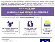 Lentillas ACUVUE VITA con tecnología hydramax en Óptica Santa Otilia en Huelva