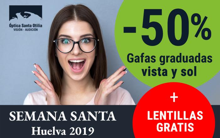 50% en gafas de vista o sol graduadas + lentillas gratis